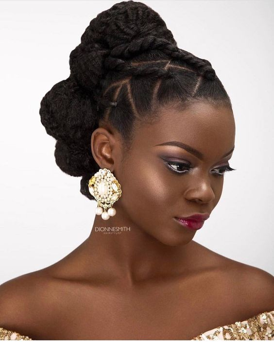 Hair:Wedding Hairstyles ForThe owners of dark skin 2017 16