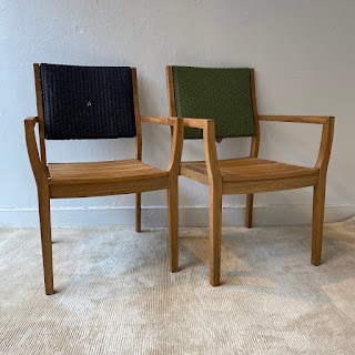 Lloyd Flanders Teak Chair Pair