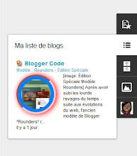 Vignette des articles dans le gadget Liste de blogs - Modèle dynamique