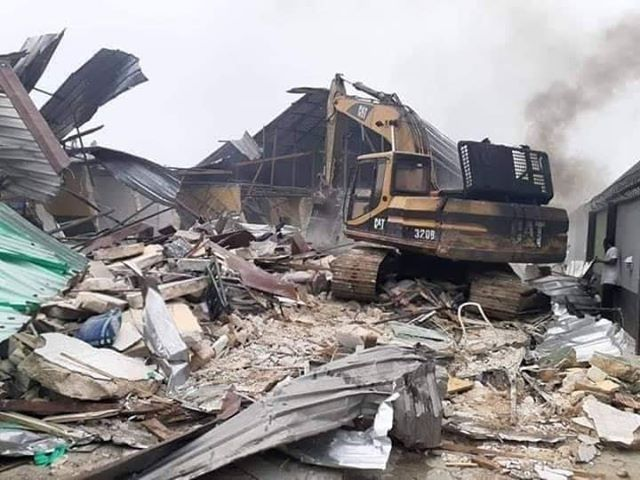 Prodest Hotel Eleme demolished on Wike's Adminstration