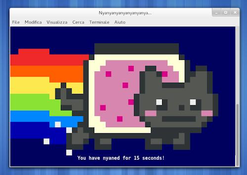 Nyan Cat da terminale