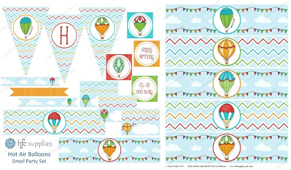 2015 April 30 monthly review new printables party hot air balloons hazelfishercreations