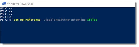 Mit Powershell Windows Defender deaktivieren