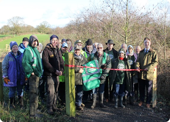 Borrow Pit Meadows ribbon cut