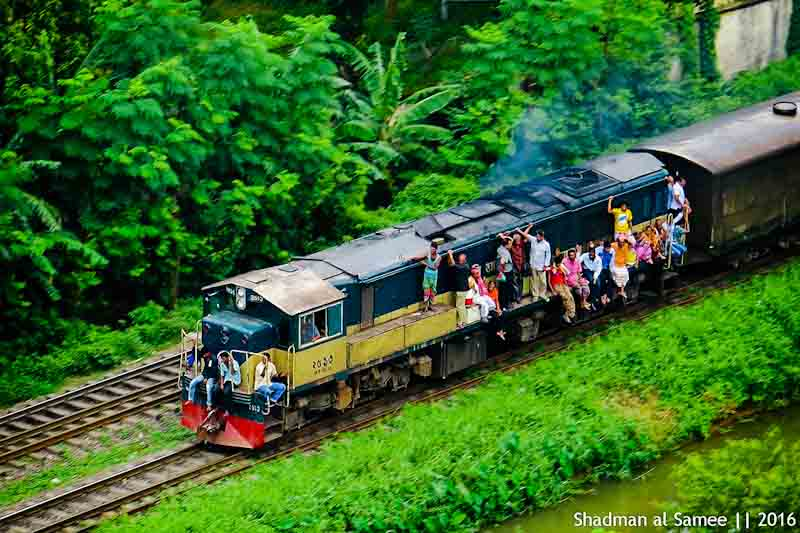 Bangladesh railway beautiful scenery