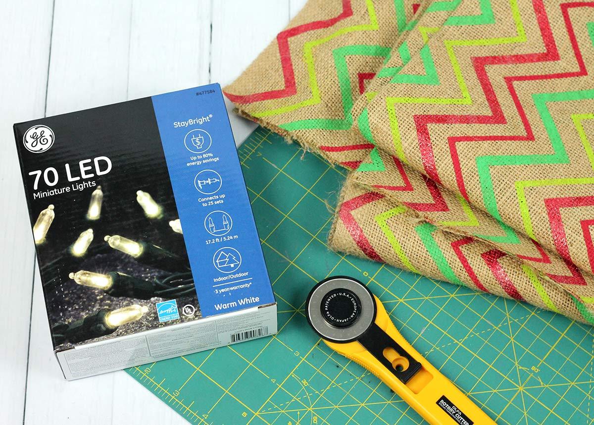 LED Burlap Light Garland