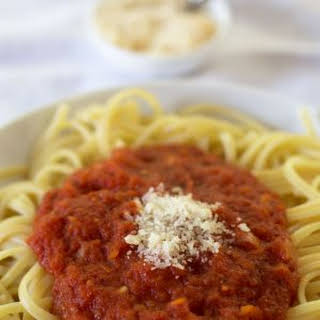 Simple Canned Tomato Pasta Sauce.
