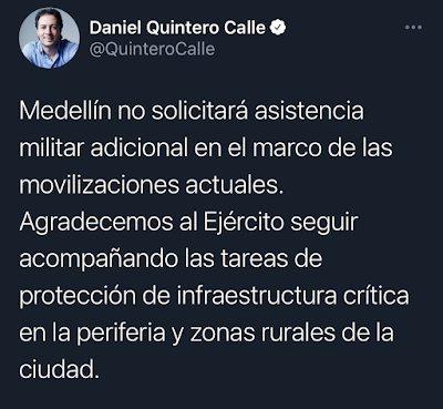Tweet Daniel Quintero