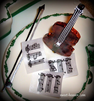 Viola Topper  Modeled and Handpainted Rice Paper was used for Musical Pages