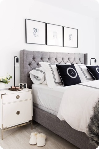 Good above bed decor