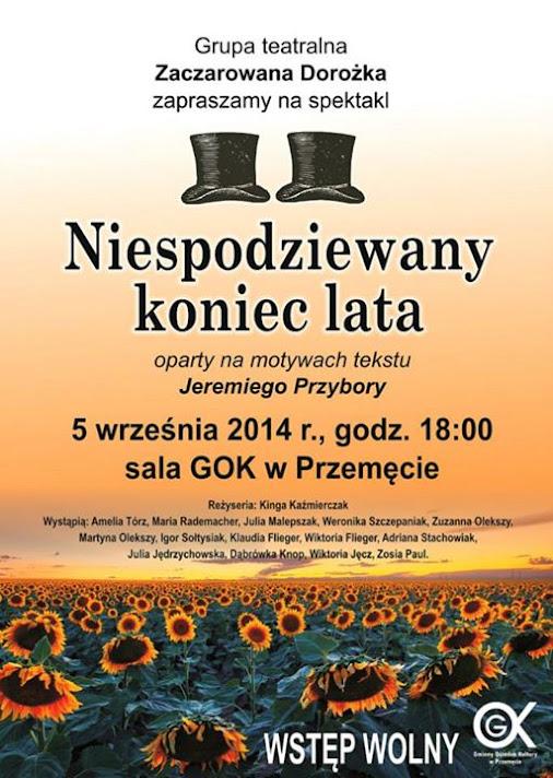 """Przedstawienie """"Niespodziewany Koniec Lata"""" @ GOK Przemęt"""