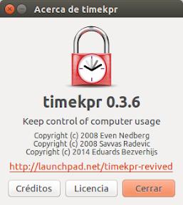 Gestionar y controlar el uso del ordenador en Ubuntu - acerca de timekpr