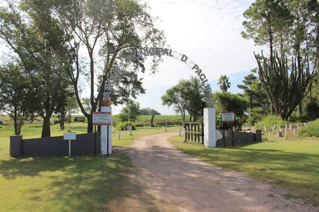 Entrada Parque Domingo Pagliero Monte Maíz
