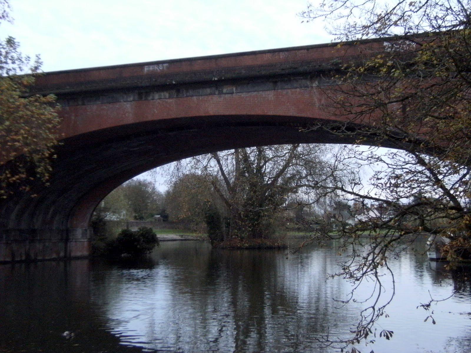 1011130042 One of the brick arches of Brunel's rail bridge, Maidenhead