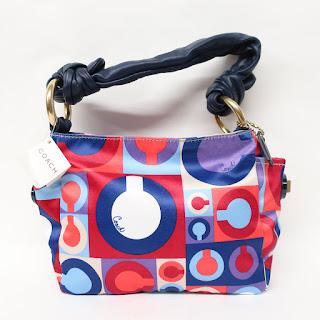 Coach Satin Multicolor Handbag