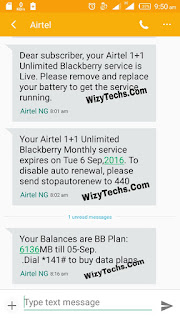 Airtel double data plan sms