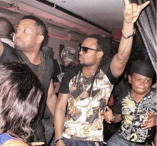Mike Ezuruonye birthday photos with flavour and Osita iheme