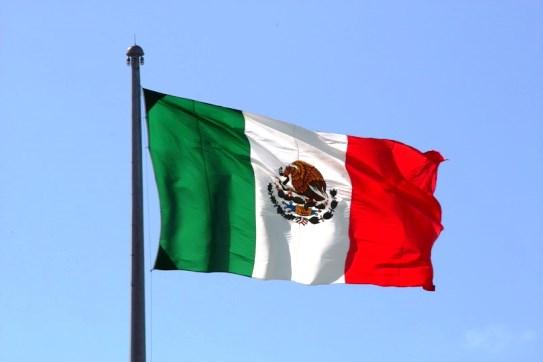 Bandera de México ondeando 1
