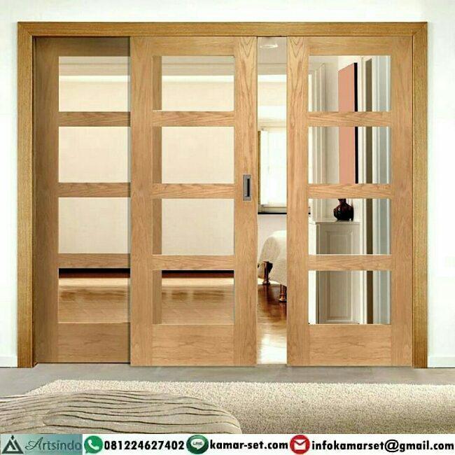 pintu geser elegan rumah cantik