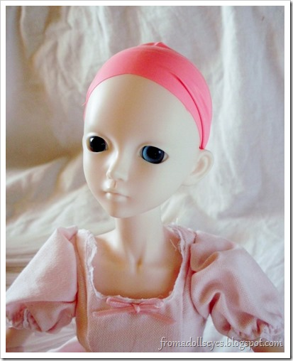 Ball Jointed Doll Wig Cap from a Latex Balloon