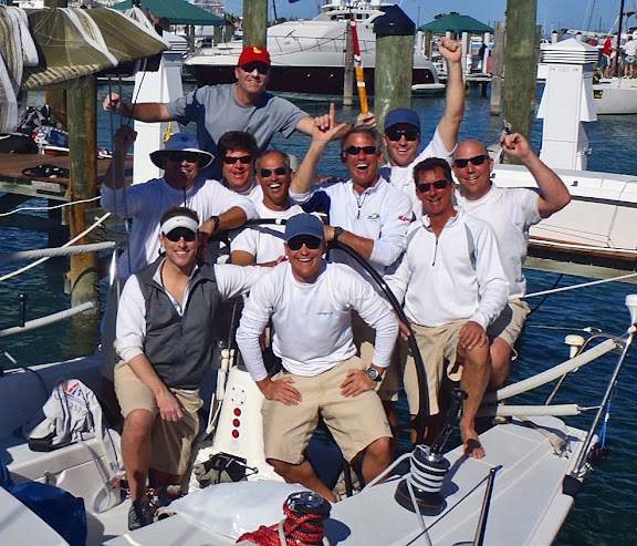 J/122 Teamwork sailing team- winning Key West Race Week