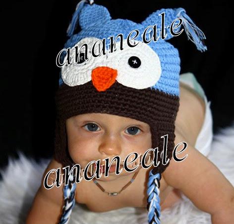 Toddler Baby Girls Boys Hat Owl Animal Crochet Winter Hand Knitted Beanie Beret