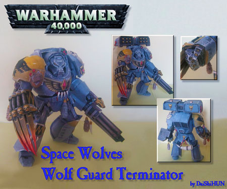 Warhammer 40K Space Wolves Papercraft