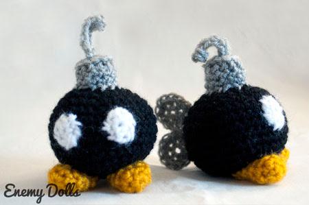 Bombas mario patrón gratis amigurumi español - Enemy Dolls