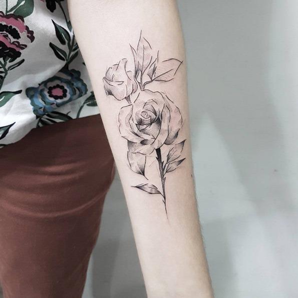 estes_esboço_estilo_de_flores