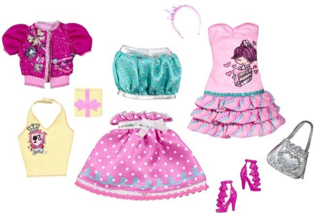 Pack 3 conjuntos para Barbie Fashionista Cutie