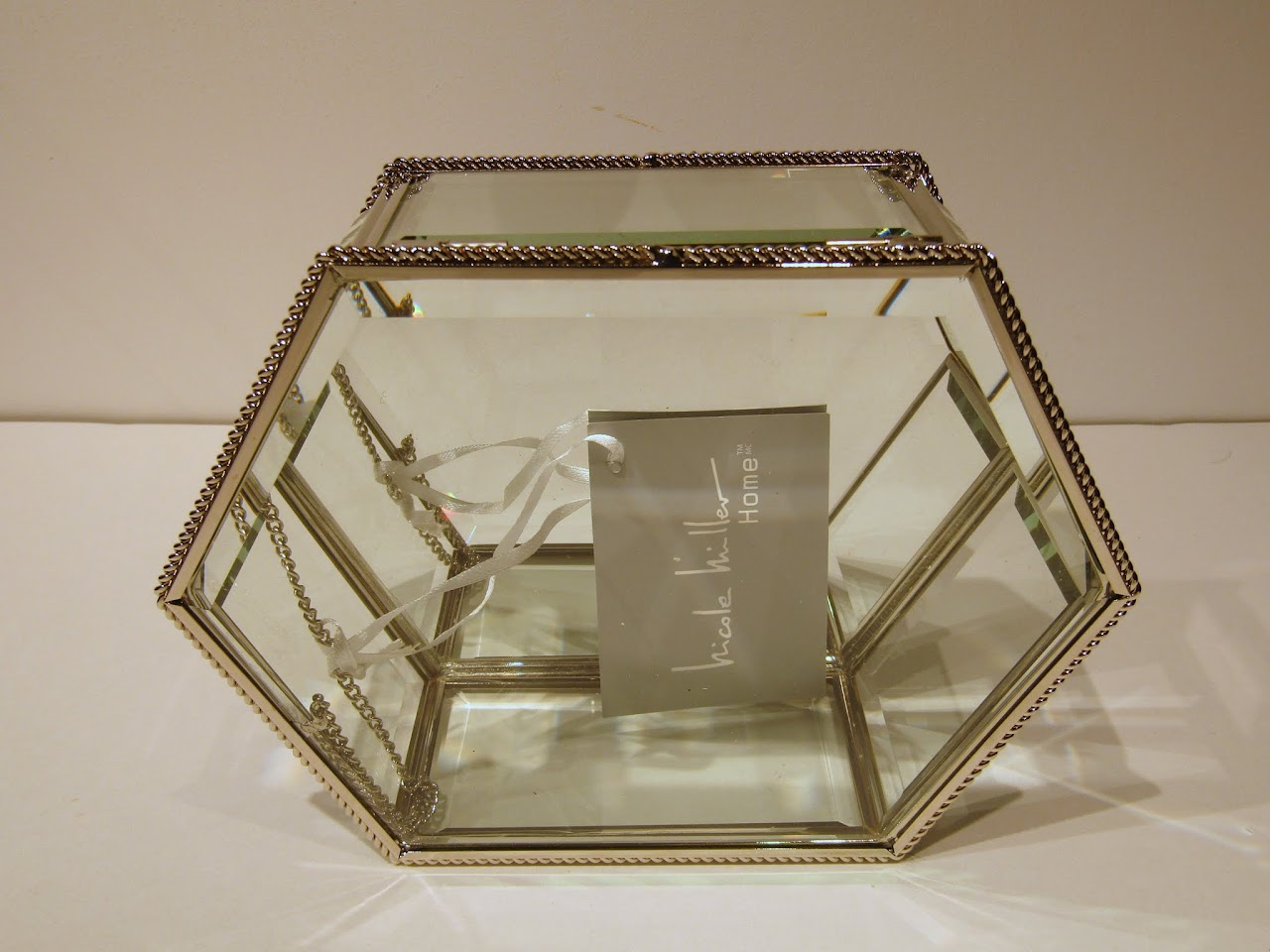 Nicole Miller Home Glass Jewelry Box Shophousingworks