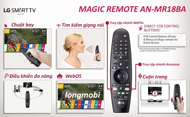 điều khiển tivi LG Magic Remote AN-MR18BA