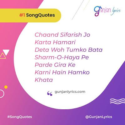 Chand Sifarish  Quotes Lyrics