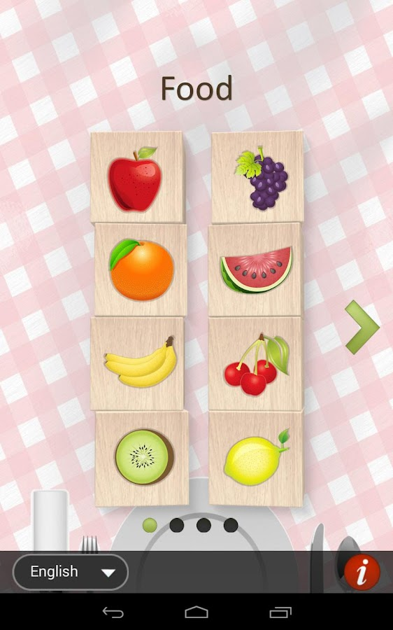 Food Blocks game for Kids- screenshot