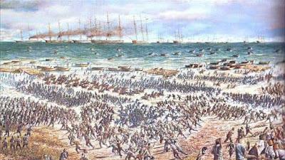 Pantai Meuraksa Sabtu Tanggal 22 Maret 1873.