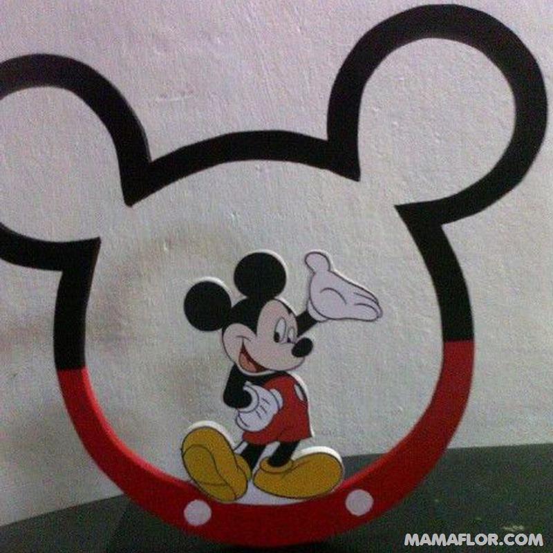 centro de mesa mickey y minnie mouse --- (28)