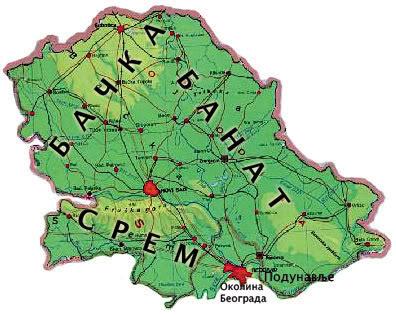 turisticka karta vojvodine Vojvodina   Geografija Srbija1 turisticka karta vojvodine
