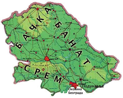 geografska karta vojvodine Vojvodina   Geografija Srbija1 geografska karta vojvodine