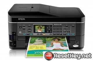Reset Epson WorkForce 545 printer Waste Ink Pads Counter