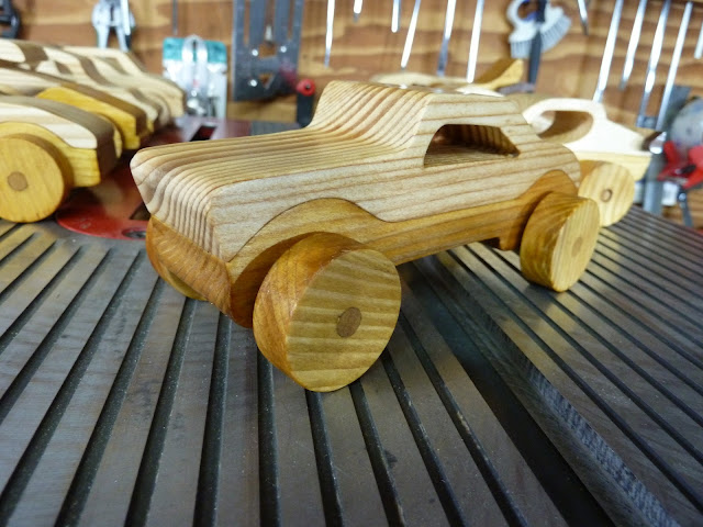 Wooden Toy Car Hot Rod Roadster Coupe or Truck From The Speedy Wheels Series