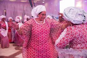 Photos Of Buhari's Daughters Dancing At Zahra's Wedding As