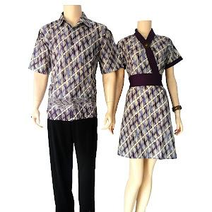 bahan batik katun warna kombinasi ungu berat 4ons motif batik bunga