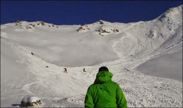 Avalanche Valais, secteur Pointe de Masserey - Photo 1 - © Presse 20 minutes.CH