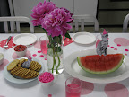 Athena loves bright pink, and cats, so we had a pink party with a few special guests.