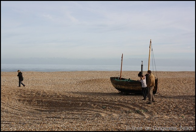 Explorers on Dungeness beach