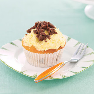 Orange Fudge Cupcakes.