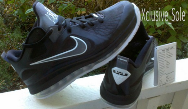 First Look at Nike LeBron 9 Low 8211 BlackGreyWhite
