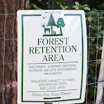 Forest areas are protected