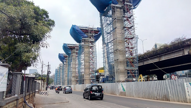 Foto Progress Pembangunan MRT Jakarta Nov 2016 Site Fatmawati - Poins Square LB. Bulus