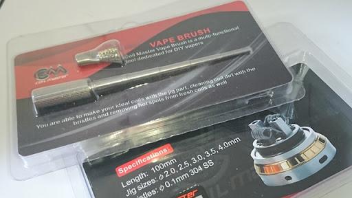 DSC 2463 thumb%25255B2%25255D - 【小物/ビルド】「Coilmaster Vape Brush(コイルマスター ブラシ付きコイルジグ)」レビュー。ドライバーン時のガンク除去+コイルジグの便利優れものビルド小道具!